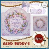 Sweet Peas Mother's Day Round Topped Fold Card Kit