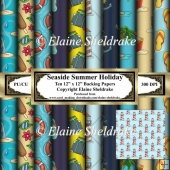 Seaside Summer Holidays - Ten Sheets of 12 x 12 Backing Papers