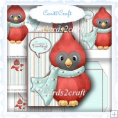 Seasons Tweeting shaped card set