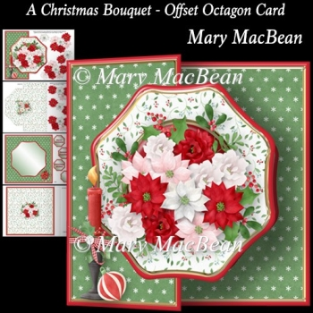 A Christmas Bouquet - Offset Octagon Card