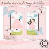 Window box card Happy Birthday Girl