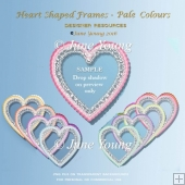 Heart-Shaped Frames - Pale Colours