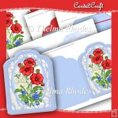 Poppy Shaped Card Set