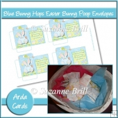 Blue Bunny Hops Easter Bunny Poop Envelopes