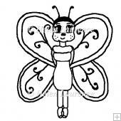 Beatrice Butterfly JPEG Line Art Digital Stamp
