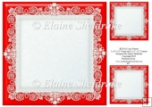 "Red (1) Lace Frames - One 8"" x 8"" and Two 3"" x 3"""