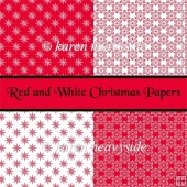Red And White Christmas Papers