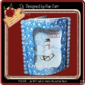 864 Christmas Snowman Bowed Front *JPG-PDF & MACHINE Formats*