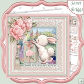 GIFT FROM BUNNY 7.5 Decoupage & Insert Mini Kit