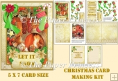 Christmas Mouse Cute Card 3 5 x 7