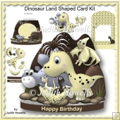 Dinosaur Land Shaped Card Kit