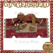 Gingerbread Man Over the Edge Christmas Cracker Card Kit