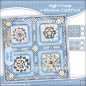 Night Flower 4 Windows Card Front