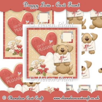 Oh So Huggable- Square Decoupage Card Front