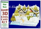 Christmas Polar Bears - Pop Up Easel Card Kit