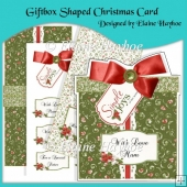 Giftbox Shaped Christmas Card