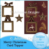 Merry Christmas Card Front/Topper