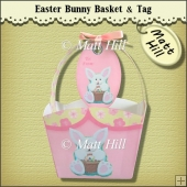 Cute Bunny Gift Basket and Tag
