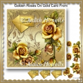 Golden Roses On Gold Card Front