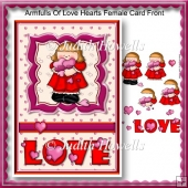 Armfulls Of Love Hearts Female Card Front