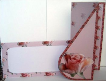 Rose Teardrop Card Envolope and Backing Sheet
