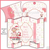 Mr And Mrs Claus Tri-Shutter Card And Pillow Box