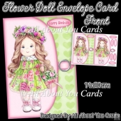 Flower Doll Envelope Card Front