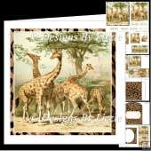 The Giraffe Family Mini kit