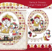 Santa & Snowey Large Frame Card(Retiring in August)