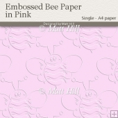 Embossed Bee Backing Paper in Pink