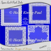 Square Lace& Pearls Doilies