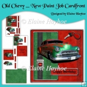 Old Chevy New Paint Job Birthday Cardfront
