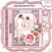 WEDDING DAY BRIDE & GROOM Pink 7.5 Decoupage & Insert Mini Kit