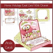 Hootie Holidays Easel Card With Drawer