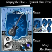 Singing the Blues Pyramid Card Front
