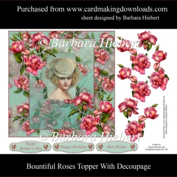Bountiful Roses Topper with Decoupage