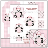 Baby Girl Panda Easel Card