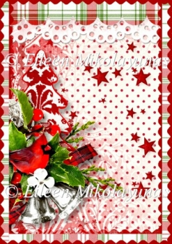 Homespun Christmas Backing Background Paper