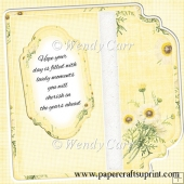 Square Fancy Edges Card Front - Floral 5(Retiring in August)