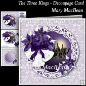 The Three Kings - Decoupage Card