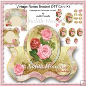 Vintage Roses Bracket OTT Card Kit