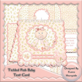 Tickled Pink Tent Card