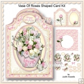 Vase Of Roses Shaped Card Kit