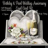Birthday & Pearl Wedding Anniversary 8 x 8 Easel Card Kit
