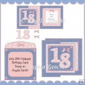 GIRLS 18TH FOLDBACK CARD