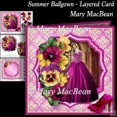 Summer Ballgown - Layered Card