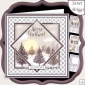 CHRISTMAS MONOTONE WINTER FOREST 7.5 Quick Layer Card & Insert