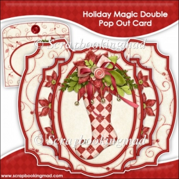 Holiday Magic Double Pop Out Card & Envelope