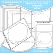 Bow Front Easel Card & Box Template Commercial Use OK