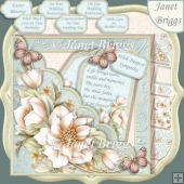 Square Scallop Pocket Cream Florals 7.5 Kit All Occasions